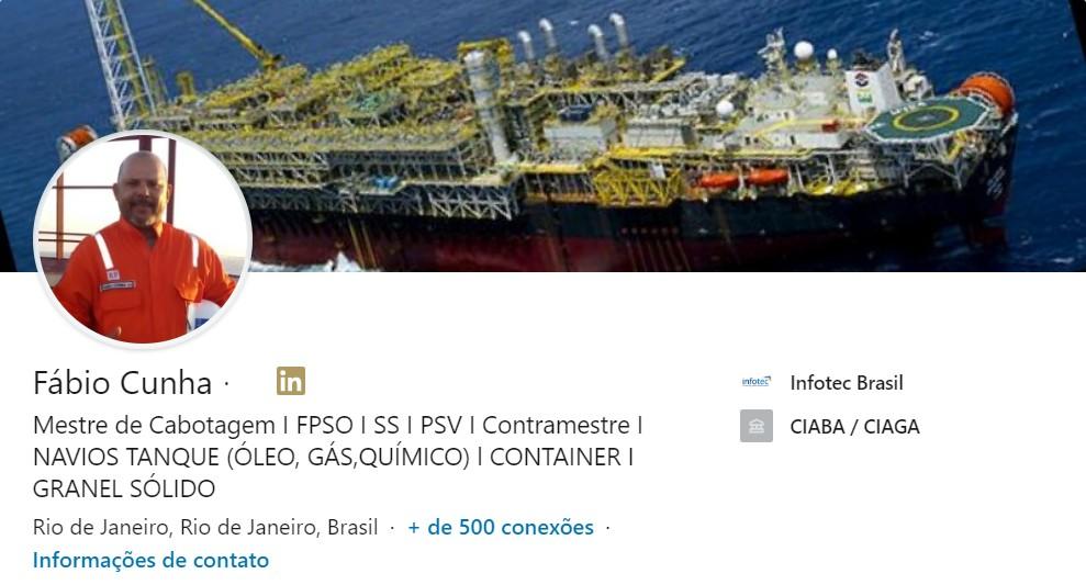 Fábio Cunha / Mestre de Cabotagem / Infotec Brasil